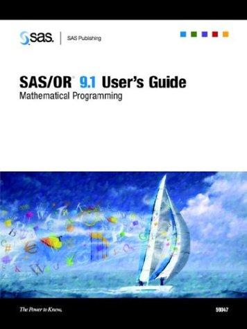 SAS/OR 9.1 User's Guide