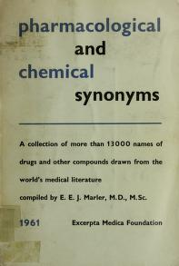 Cover of: Pharmacological and chemical synonyms | E. E. J. Marler