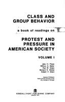 Class and group behavior by [Edited by] John H. Florer [and others]
