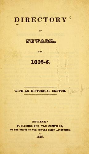 Directory of Newark, for 1835-6 by