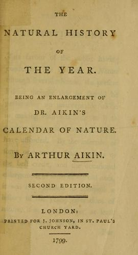 The natural history of the year by Arthur Aikin