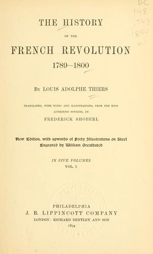 The history of the French Revolution 1789-1800