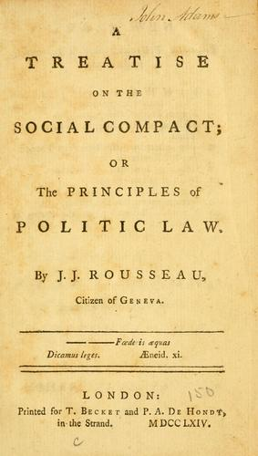 A treatise on the social compact by Jean-Jacques Rousseau