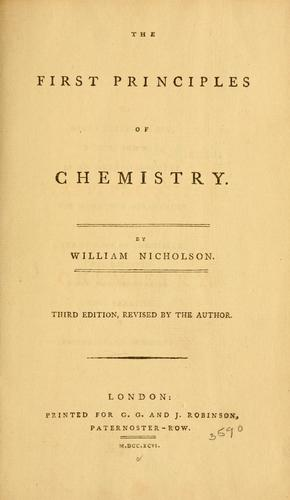 The first principles of chemistry