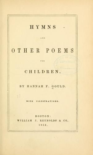 Hymns and other poems for children.