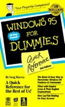 Windows 95 for dummies quick reference by Greg Harvey