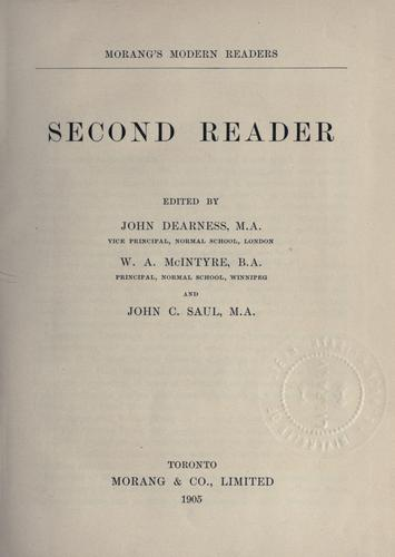 Second reader by John Dearness