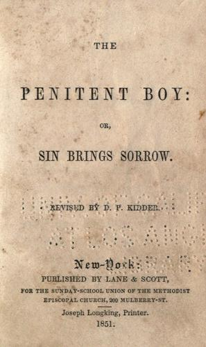 The Penitent boy by