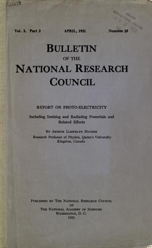 Report on photo-electricity by Arthur Llewelyn Hughes