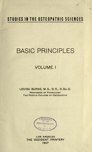 Studies in the osteopathic sciences by Louisa Burns